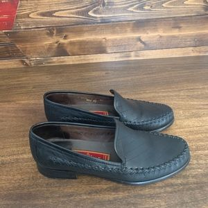 Black Cole Haan Woven Front Loafer